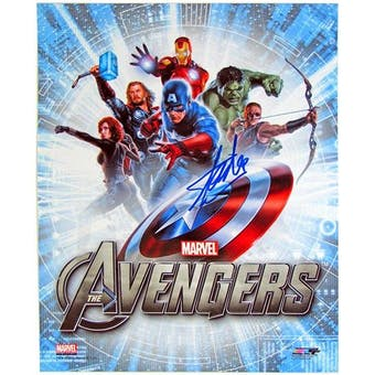 Stan Lee Autographed 8x10 Avengers Assemble Movie Photo (DACW Cert)