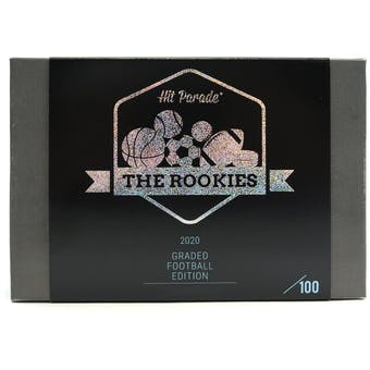 2020 Hit Parade The Rookies Graded Football Edition - Series 3 - 10-Box Hobby Case /100 Mahomes-Allen-Kyler