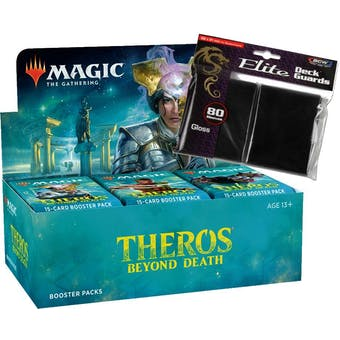 Magic the Gathering Theros Beyond Death Draft Booster Box & BCW Deck Protectors COMBO
