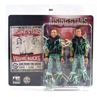 Young Bucks Dual Autographed Action Figures AEW (DA COA)