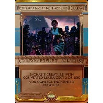 Magic the Gathering Amonkhet Invocation Single Threads of Disloyalty FOIL - NEAR MINT (NM)