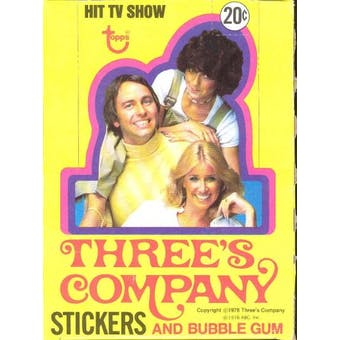 Three's Company Wax Box (1978 Topps)