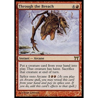 Magic the Gathering Champions of Kamigawa Single Through the Breach - NEAR MINT (NM) Sick Deal Pricing