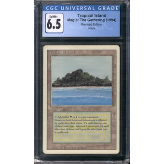 Magic the Gathering 3rd Ed/Revised Tropical Island CGC 6.5