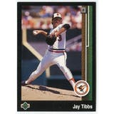 1989 Upper Deck Jay Tibbs Baltimore Orioles #655 Black Border Proof
