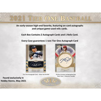 2021 Topps Tier One Baseball Hobby Box (Presell)