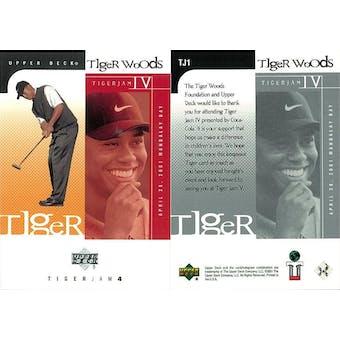 2001 Upper Deck Golf #TJ1 Tiger Woods RC (Tiger Jam 4) (Lot of 10)