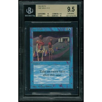 Magic the Gathering Beta Time Walk BGS 9.5 (10, 9.5, 9.5, 10) .5 from PRISTINE!