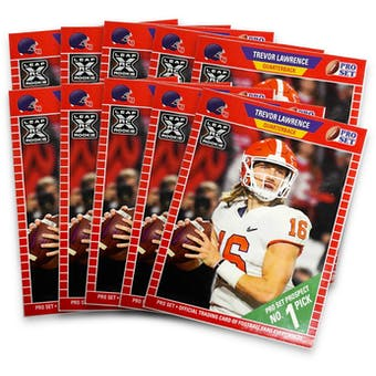 2021 Leaf Pro Set Trevor Lawrence Rookie Card (Lot of 10)
