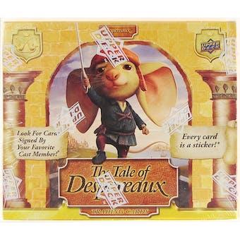 Upper Deck Tales of Despereaux Trading Cards Box