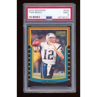 2000 Bowman Tom Brady PSA 9 card #236