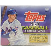2020 Topps Series 1 Baseball Hobby Jumbo Box