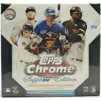 2020 Topps Chrome Sapphire Baseball Hobby Box