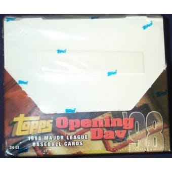 1998 Topps Baseball Opening Day 24 Pack Box