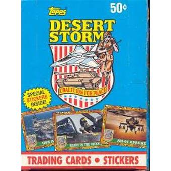 Desert Storm Series 1 Box (1991 Topps)