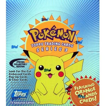 Pokemon TV Animation Series 3 Trading Card Box (Topps)