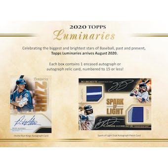 2020 Topps Luminaries Baseball Hobby Box (Presell)