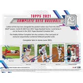 2021 Topps Factory Set Baseball Hobby (Box) (Presell)