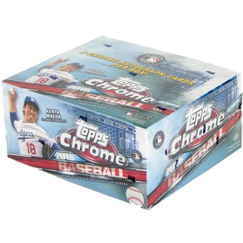 2016 Topps Chrome Baseball Hobby Jumbo Box