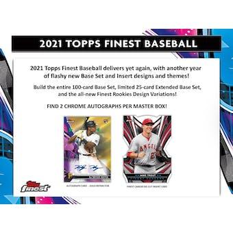 2021 Topps Finest Baseball Hobby 8-Box Case (Presell)