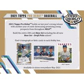 2021 Topps Pro Debut Baseball Hobby 12-Box Case (Presell)