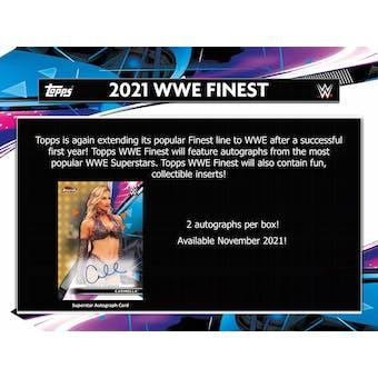 2021 Topps WWE Finest Wrestling Hobby 8-Box Case (Presell)