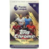 2018/19 Topps Chrome Premier League Soccer Hobby Box