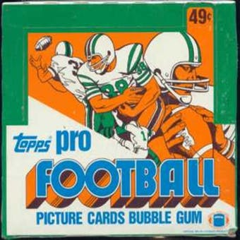 1981 Topps Football Cello Box