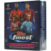 2018/19 Topps Finest UEFA Champions League Soccer Hobby Mini-Box