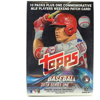 2018 Topps Series 1 Baseball 10-Pack Blaster Box