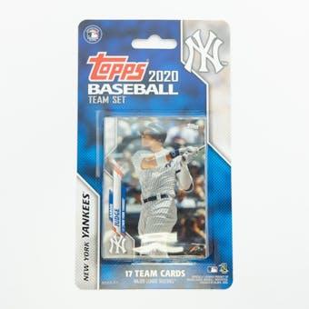 2020 Topps Baseball New York Yankees Team Set