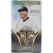 2019 Topps Triple Threads Baseball Hobby Mini-Box