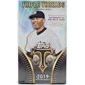 2019 Topps Triple Threads Baseball Hobby Mini-Box