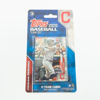 2020 Topps Baseball Cleveland Indians Team Set