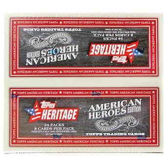 2009 Topps Heritage American Heroes Ed. Baseball 24-Pack Box