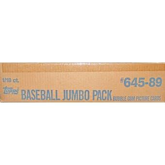 1989 Topps Baseball Jumbo 18 Pack Case