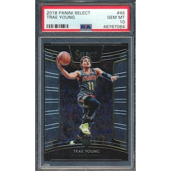 2018/19 Panini Select Trae Young Concourse PSA 10 card #45