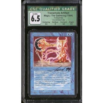 Magic the Gathering Antiquities Transmute Artifact CGC 6.5 SLIGHT PLAY (SP) - Unwitnessed Artist Signature