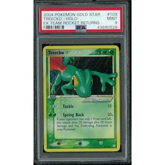 Pokemon EX Team Rocket Returns Treecko Gold Star 109/109 PSA 9