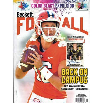 2020 Beckett Football Monthly Price Guide (#357 October) (Trevor Lawrence)