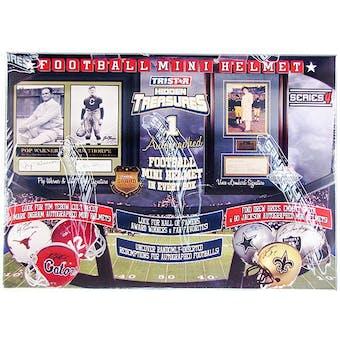 2010 TriStar Hidden Treasures Autographed Mini-Helmet Football Hobby Box