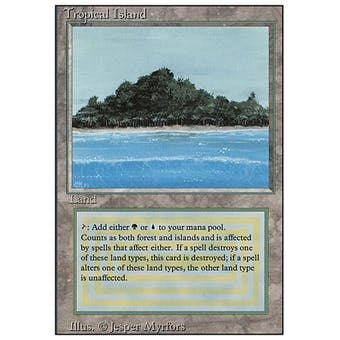 Magic the Gathering 3rd Ed (Revised) Single Tropical Island - MODERATE PLAY (MP) Sick Deal Pricing