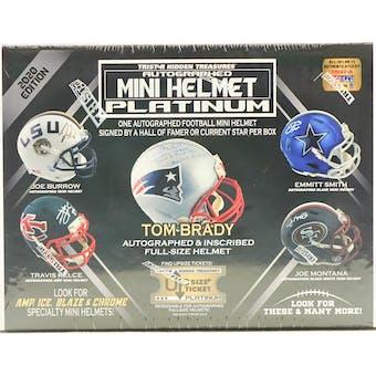 2020 TriStar Autographed Mini Helmet Platinum Edition Football Hobby Box