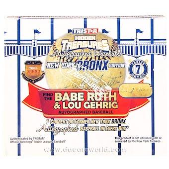 2013 TriStar Hidden Treasures Bronx Edition Series 7 Baseball Hobby Box