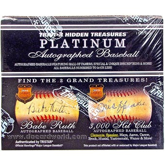 2012 TriStar Hidden Treasures Platinum Baseball Hobby Box
