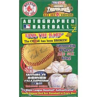 2005 TriStar Hidden Treasures Auto Baseball Red Sox Series 2 Hobby Box