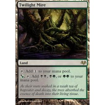 Magic the Gathering Eventide Single Twilight Mire FOIL - MODERATE PLAY (MP) Sick Deal Pricing