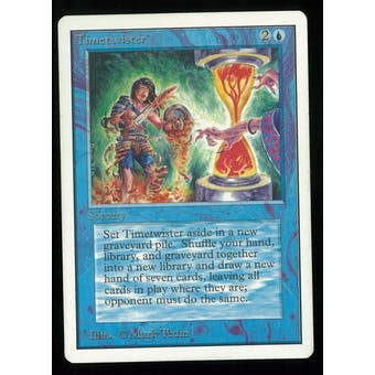Magic the Gathering Unlimited Timetwister - MODERATE PLAY (MP)