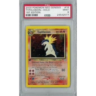 Pokemon Neo Genesis 1st Edition Typhlosion 18/111 PSA 9