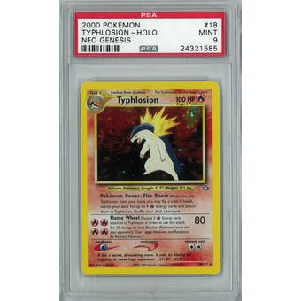 Pokemon Neo Genesis Typhlosion 18/111 PSA 9